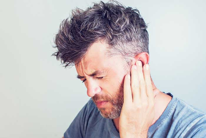 Man Having pain in his ear